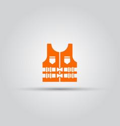 Life jacket isolated orange icon vector