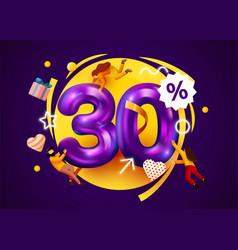 Mega sale 30 percent discount special offer vector