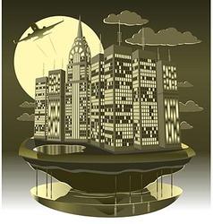 Modern city night vector
