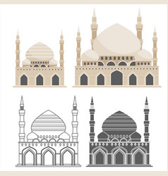 muslim traditional architecture mosque house vector image