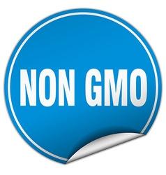 Non gmo round blue sticker isolated on white vector