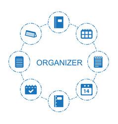 Organizer icons vector