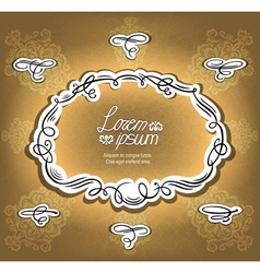Ornate frame and design elements vector image
