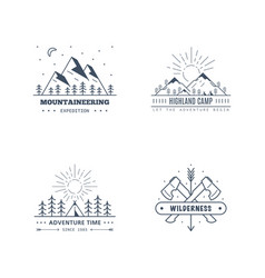 Outdoor activities logo set vector