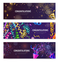 Party serpentine banners vector