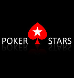 poker stars words and plaing cards symbol on vector image