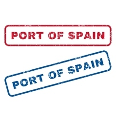 Port Of Spain Rubber Stamps vector