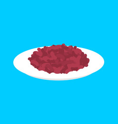 red bean cereal in plate isolated healthy food vector image