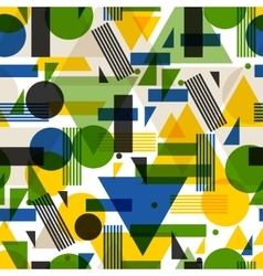 Seamless pattern in abstract geometric style vector