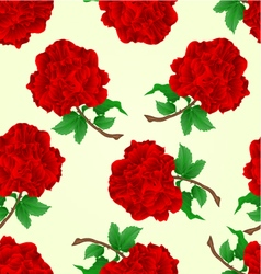 Seamless texture flowers red roses stem vector image