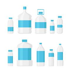 set of water bottle pack light vector image