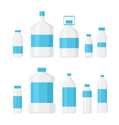 set water bottle pack light vector image