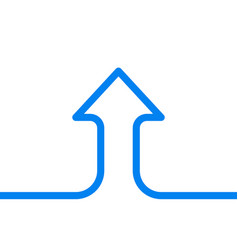single line arrow growth vector image