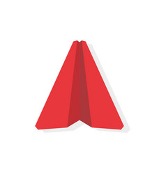 single red paper airplane business leader vector image