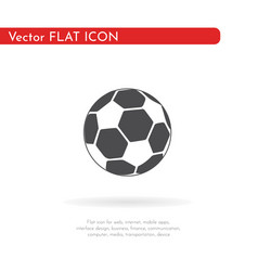 soccer ball icon for web business finance and vector image