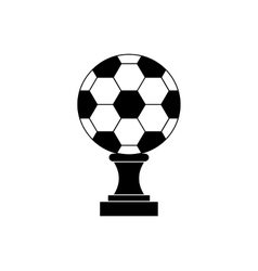 Soccer champion cup icon black simple style vector image