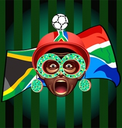 South african soccer fan vector