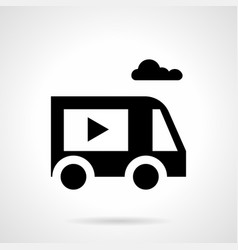 special video ads truck glyph style icon vector image