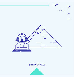 Sphinx of giza skyline vector