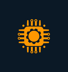 technology circuit board icon vector image