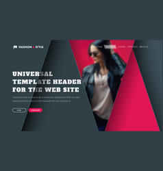 Template of a universal header with triangular vector
