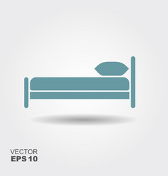 the bed icon vector image
