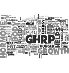 What is ghrp text word cloud concept vector