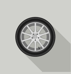 Wheel flat icon vector