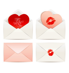 white envelope and hearts concept love vector image