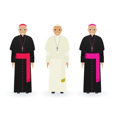 Pope cardinal and bishop in characteristic vector