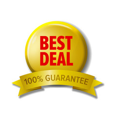 round button with label best deal vector image vector image