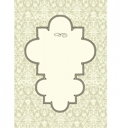 seamless pattern and ornate frame vector image vector image