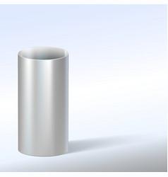 Steel pipe vector image