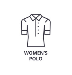 women polo line icon outline sign linear symbol vector image vector image