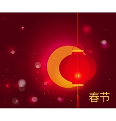 Chinese New Year background with characters Spring vector image