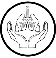 Medical icon Protection of lungs vector image vector image