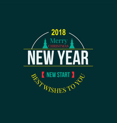 new year christmas label vector image vector image