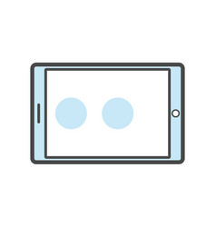 tablet pc isolated linear icon vector image