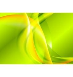 Bright green yellow waves design vector image vector image