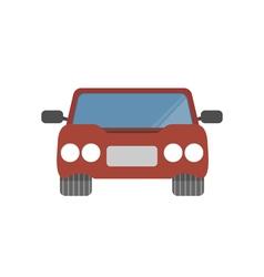 Flat design simple car vector