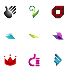 logo design elements set 39 vector image