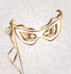 Venetian carnival or theater mask vector image vector image