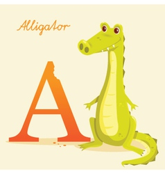 A for alligator vector