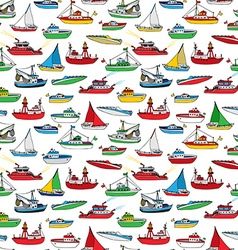 Colourful seamless marine pattern vector image
