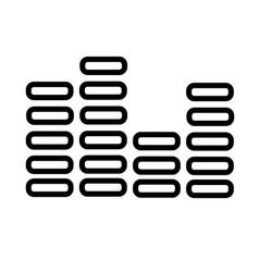digital sound icon vector image vector image