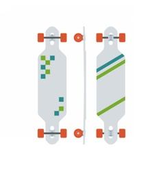Modern Longboard Desk Set vector image vector image