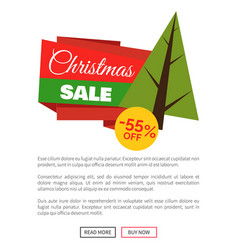 55 off christmas sale banner vector image