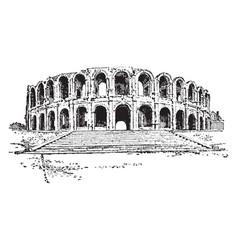 Amphitheater arles a roman amphitheatre in the vector