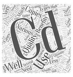 Benefits Of CD Duplication Word Cloud Concept vector