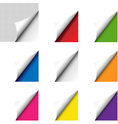 big colorful corner set isolated vector image